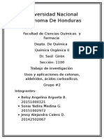 Usos y Aplicaciones de Aldehídos, Cetonas, Acidos
