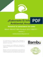 Comunicado - Informe Ambiental Anual