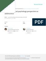 A Developmental Psychopathology Perspective on Adolescence - Lido (Prevenção)