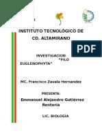 Actividad 2 Euglenofitas Investigacion