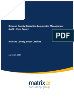 Richland County Recreation Commission Management Audit Final Report 3-24