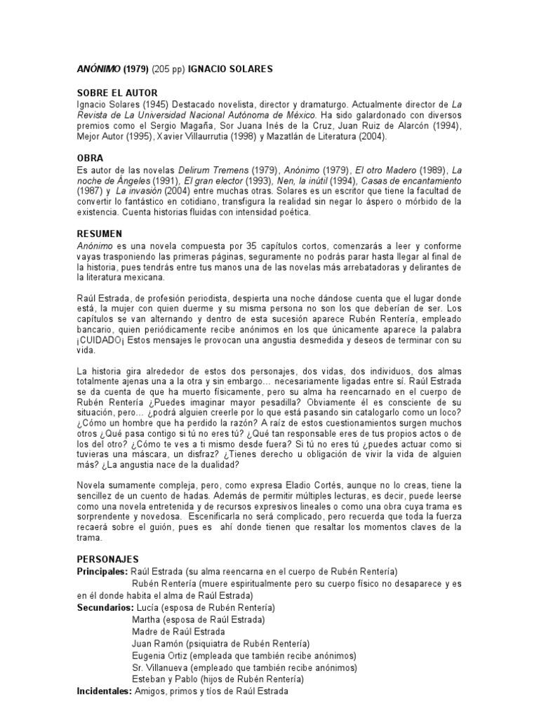 11. Anónimo de Ignacio Solares