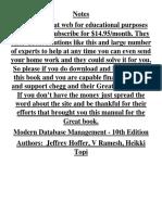 Modern Database Management - 10th Edition Chegg.com Manual Full