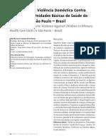 Estudo Sobre a Violência Doméstica Contra a Criança Em Unidades Básicas de Saúde Do Município de São Paulo – Brasil