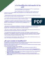 Requisitos Para La Desafiliación Informada de Las AFP