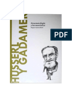 Garcia Baro Miguel - Descubrir La Filosofia 30 - Husserl Y Gadamer
