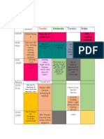 schedule week 5