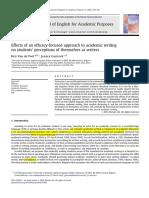 Van de Poel Et Gasiorek - 2012 - Effects of an Efficacy-focused Approach to Academic writers