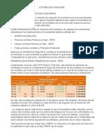 Métodos de Valoración de Inventarios y Polizas