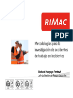 Diversas Metologias Para La Investigacion Accidentes
