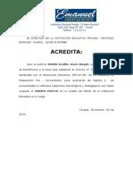 ACREDITACIÓN 20145