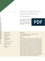 Cambios Climaticos y Su Efecto en Los Patosistemas