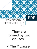 Conditionals Sentences 0, 1 & 2