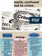 Words Related to Crime