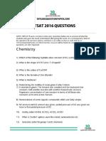 Bitsat 2016 Question Paper