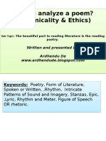 How to Analyze a Poem Technicality Ethics