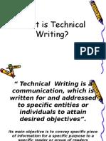 1.Nature of Tech'l Writing