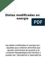 Dietas Modificadas en Energía