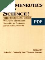 Hermenéutica Versus Science