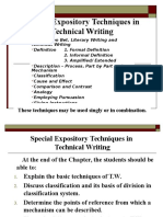 5.Special Expository Techniques in Technical Writing Definition