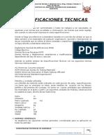 4.1 Especificaciones Técnicas