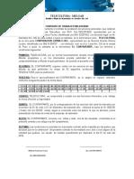 Contrato de Trabajo Publicitario Teleculura