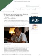 Zaffaroni_ La Corte Suprema Declara Su Independencia Del Estado(1)