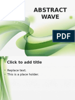 10175 Wavy Abstract Green Fppt