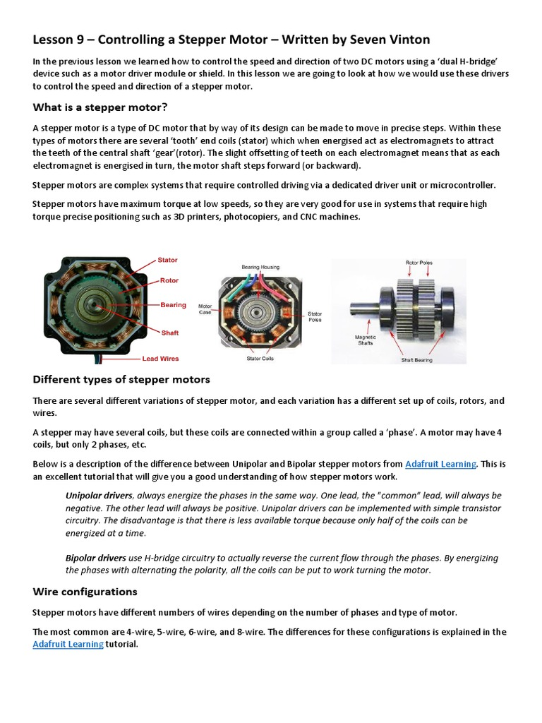 Controlling Stepper Motor Via Arduino Electrical Engineering Control My 12v Dc Speed Stack Exchange Electromagnetism
