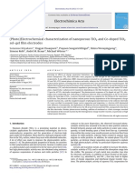(Photo)Electrochemical Characterization of Nanoporous TiO2 and Ce