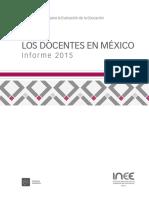 2 Los Docentes en México Informe 2015