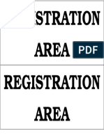 Registration Are A