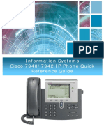 Information Systems Cisco 7940 7942 IP Phone Quick Reference Guide