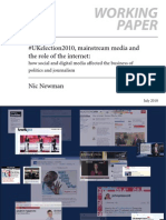 #UKelection 2010, mainstream media and the role of the internet