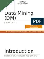 DM BS Lec1 Intro