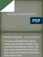 RAHSIA ANAK PINTAR
