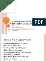 Teknik Menjawab Matematik Tambahan 1.ppsx