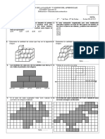 Razonamiento Matematico 1ra Unidad - 4to Primaria - Trimestre III - Conteo de Cubos, Fracciones y Perimetros