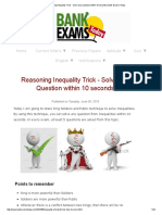 Reasoning Inequality Trick - Solve Any Question Within 10 Seconds _ Bank Exams Today