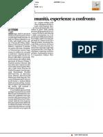Welfare di comunità, esperienze a confronto - Il Corriere Adriatico del 23 marzo 2017