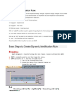 Basic Steps to Create Dynamic Modification Rule PP