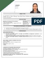 My Resume - Jan Michelle Sabana