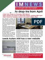 Leeds Autism Aim - Spring 2017 Newsletter - Final - V2