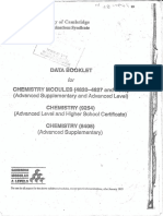 Chem Data Booklet