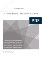 Migrating EIGRP to OSPF