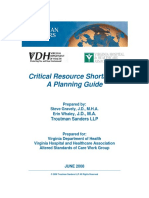 Critical Resource Shortages-A Planning Guide