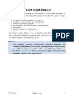 Is Audit Report Template