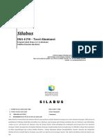 EKA 4190 - Silabus Teori Akuntansi – Program Studi S-1 Akuntansi Revisi 2 Sept 14 a1
