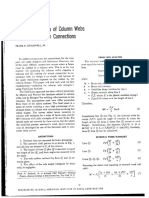 Yield Line Analysis of Column Webs with welded Bem Connections