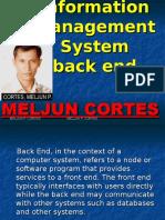 MELJUN CORTES MIS_Back_End_Lecture
